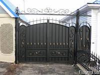 Ворота и калитки с профлиста и элементами ковки