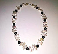 Ожерелье из Жемчуга Бива (Кеши) и Черного Жемчуга / Рубиновая Мечта