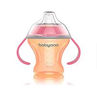 BabyOno Natural Nursing Чашка- непроливайка с  мягким носиком 180 мл
