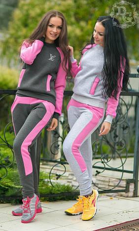 Женский спортивный костюм на флисе дг317