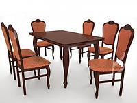 Комплект меблів для вітальні. Стіл + 6 крісел