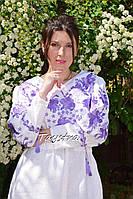 Белое платье вышиванка лен этно стиль бохо шик, вишите плаття вишиванка, элегантное выпускное платье