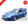 Bburago PORSCHE 911 GT2 (голубой,1:32) Авто-конструктор (1:32,1:43)