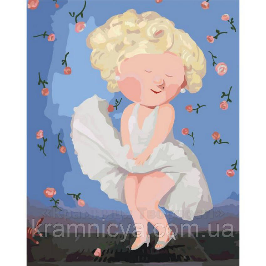 Картина по номерам, Е. Гапчинская 'Мерлін Монро', 40х50см. (KNG008)