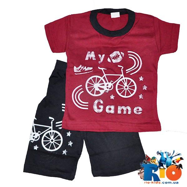 """Детский летний костюм """"My Game"""" (3D рисунок) , 100% cotton, для мальчиков 5-8 лет (5 ед. в уп.)"""