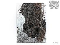 Картина Силуэт Лошади из зеркальной мозаики