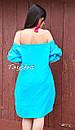 Вышитая туника платье лен вышиванка бохо стиль этно, платье открытые плечи, фото 6