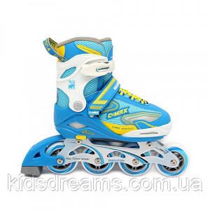 Роликовые коньки раздвижные (Ролики) Maraton C-MAX, голубая, Размер: L(39-42)