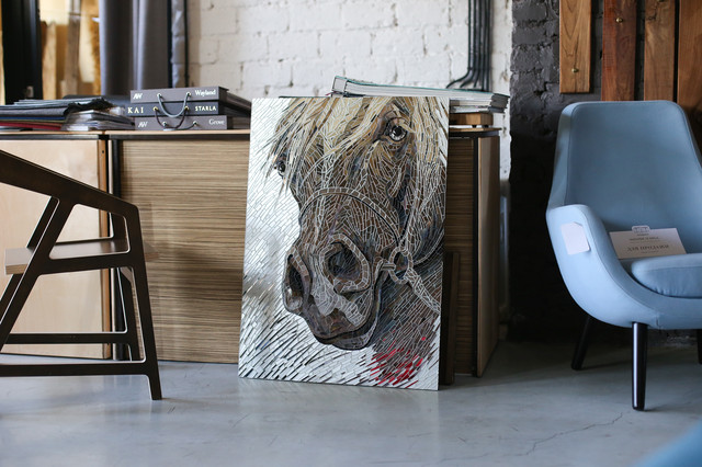 Картина силуэт лошади