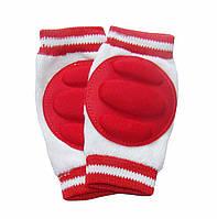 Наколенники для детей и малышей Красные полоски. Внутри махровые.