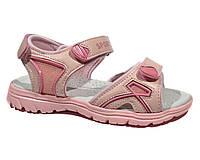 Детские качественные спортивные босоножки девочкам р.36,37 розовые на липучках с кожаной ортопед стелькой