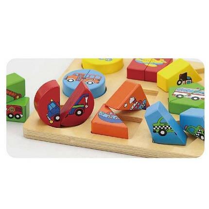 """Пазл Viga Toys """"Транспорт"""" (59586), фото 2"""