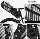 Велосумка подседельная (крыло) RockBros водонепроницаемая черная, фото 8