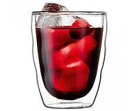 """Стеклянные стаканы с двойными стенками Bodum """"Волна"""" 200 мл (Качественная реплика), фото 1"""