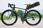 Велосумка підсідельна (крило) RockBros водонепроникна чорна, фото 6