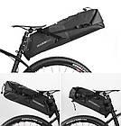 Велосумка підсідельна (крило) RockBros водонепроникна чорна, фото 7