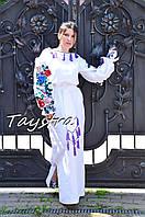 Свадебное платье вышитое выпускное платье бохо лен этно бохо-стиль, вишите плаття вишиванка, весільна сукня
