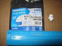 Лампа LED панель приборов, подсветки кнопок T5B8,5d-02 (1SMD) W1.2W  B8.5d  тепло белая 12V <TEMPEST tmp-39T5-12V
