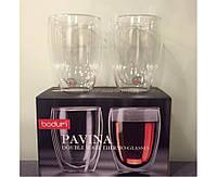 Стеклянные стаканы с двойными стенками Bodum Pavina 450 мл (ОРИГИНАЛ) 2 шт, фото 1