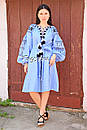 Платье вышитое бохо вышиванка лен этно бохо-стиль вишите плаття вишиванка стиль Вита Кин, фото 2
