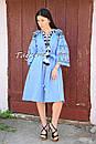 Платье вышитое бохо вышиванка лен этно бохо-стиль вишите плаття вишиванка стиль Вита Кин, фото 3
