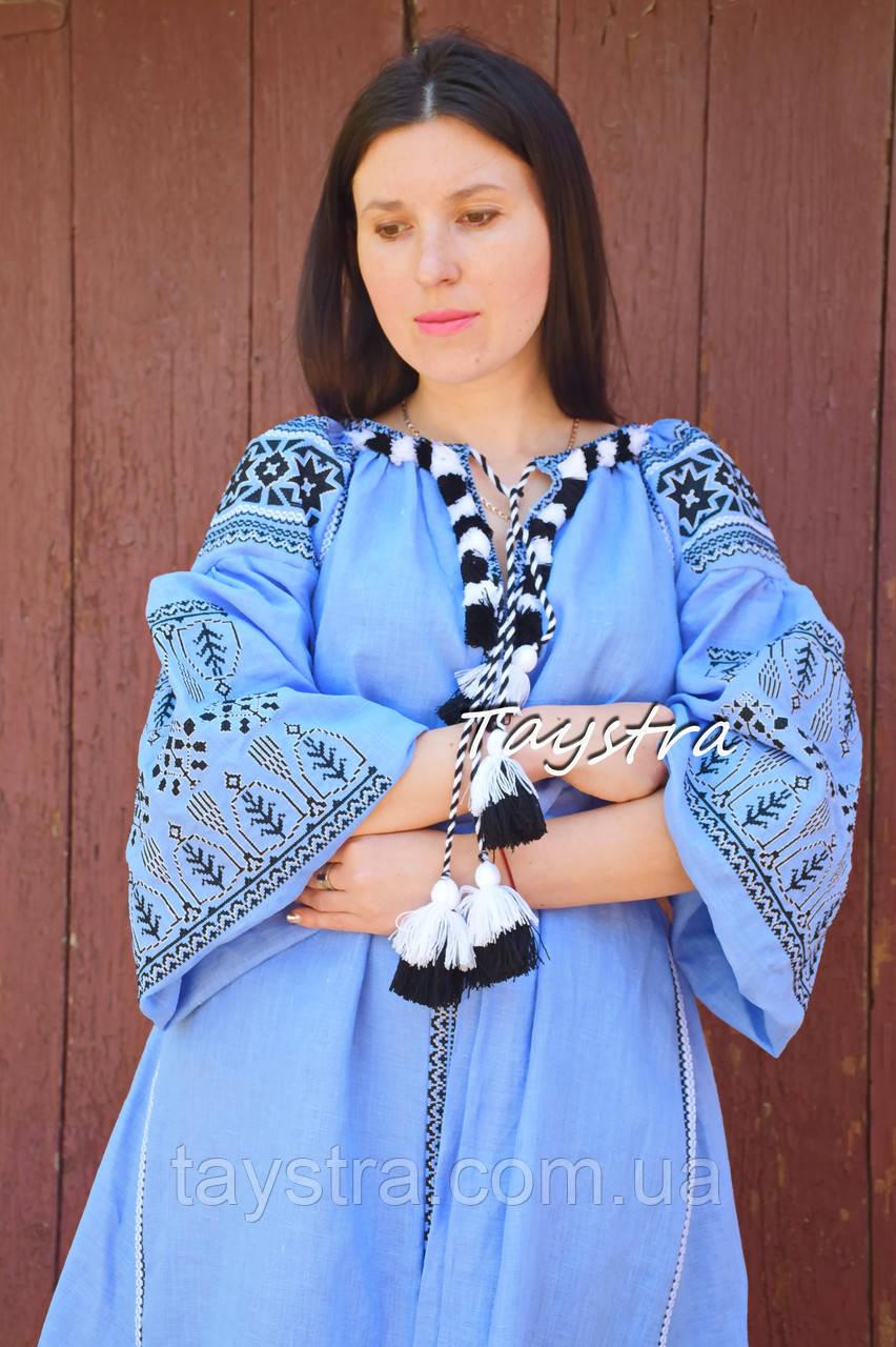 Платье вышитое бохо вышиванка лен этно бохо-стиль вишите плаття вишиванка стиль Вита Кин