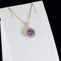 Божественный кулон с кристаллами Swarovski + цепочка, покрытые золотом 0849