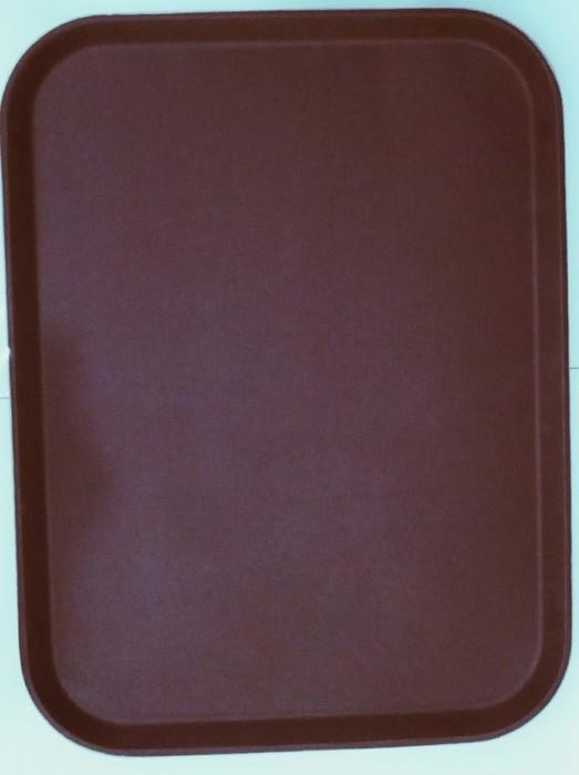 """Поднос прямоугольный для официанта """"Антислип"""" коричного цвета 650*450*23 мм"""