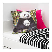 IKEA, URSKOG, Подушка, разноцветная панда (603.939.19)(60393919) УРСКОГ, ИКЕА, ІКЕА, АЙКИА