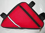 Вело сумка подрамная треугольная велосипедная сумка для велосипеда, велосумка велобардачок, фото 3
