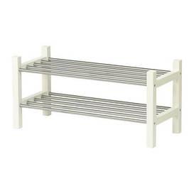 IKEA, TJUSIG, Полка для обуви, белая (301.526.38)