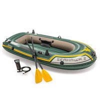 "Надувная лодка Intex 68347 ""Seahawk 2"" (236*114 см, насос, весла)"