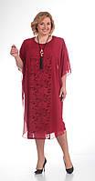 Платье Pretty-499/1 белорусский трикотаж, бордо, 64