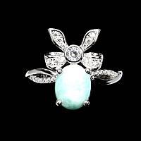 "Красивое кольцо с  ларимаром  ""Солоха"", размер 16,5 от студии LadyStyle.Biz, фото 1"