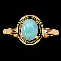 """Красивое кольцо с  ларимаром  """"Золотой овал"""", размер 18 от студии LadyStyle.Biz, фото 1"""