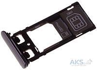 Держатель SIM-карты Sony F5121 Xperia X Original Black