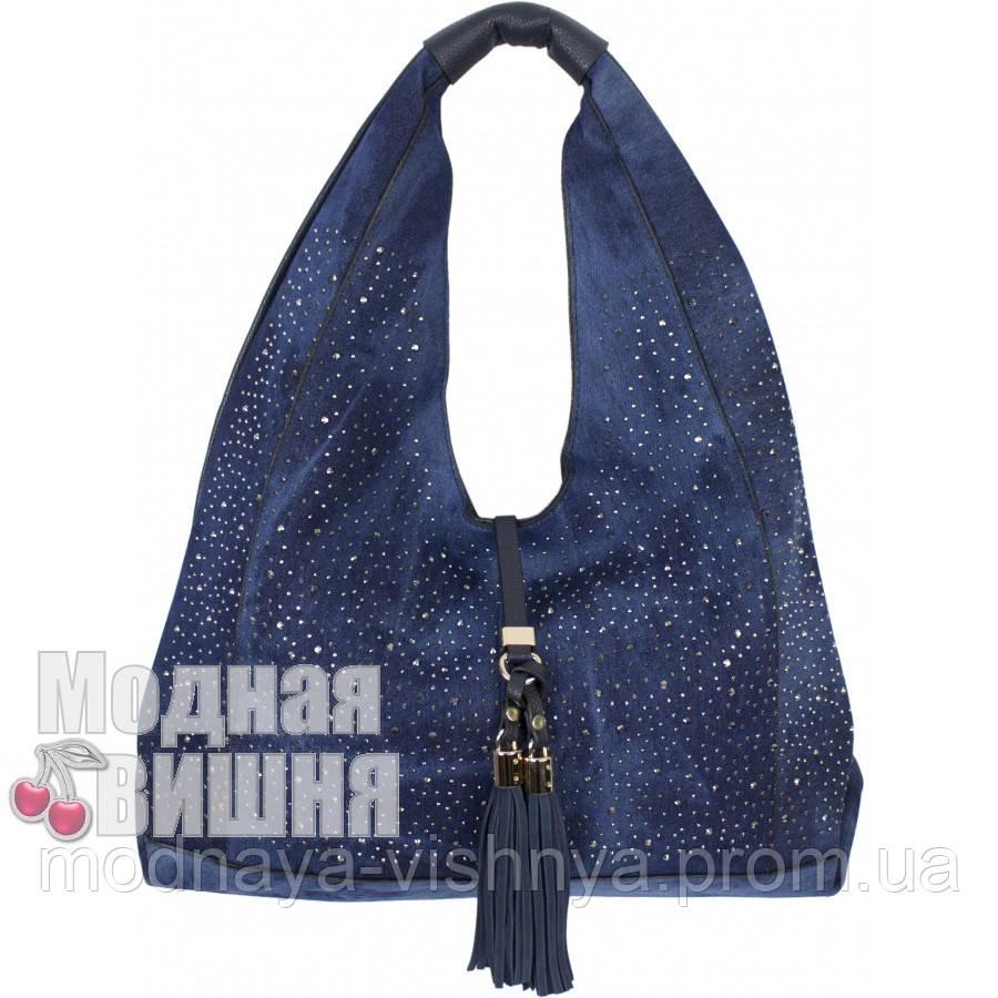 7ade8acc0c88 Женская джинсовая сумка-мешок со стразами, разные цвета купить ...
