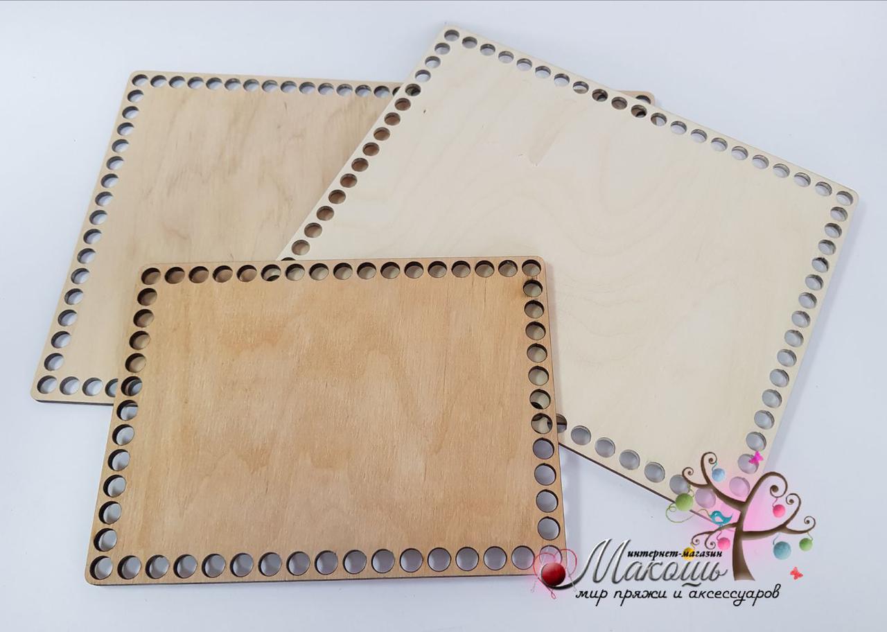 Прямоугольное донышко для вязанных корзин,  20х30 см