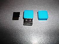 USB - кардридер micro SD внутренний (адаптер, cardreader, карт-ридер) голубой