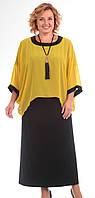 Платье Pretty-571 белорусский трикотаж, желтый, 66