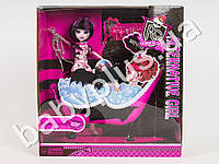 Кукла Monster High, шарнирная, ванна, летучая мышь, скелет, аксессуары, в кор-ке