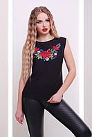 GLEM Вышивка-цветы футболка Киви б/р