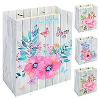 "Пакет бумажный подарочный ""Happy flowers"" 32*26*12см 12шт/уп N00336 (600шт)"