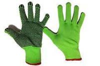 """Защитные перчатки синтетические с точкой зеленого цвета """"Синтетика Зеленая"""""""