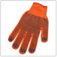 Защитные перчатки из толстого трикотажа оранжевого цвета Оранж. Х/Б 1 сорт