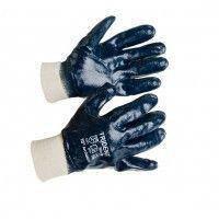 Перчатки  - полный облив нитрилом, мягкий манжет МБС (синие), фото 1