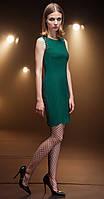 Платье Nova Line-5679 белорусский трикотаж, изумрудный, 48