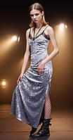 Платье Nova Line-5678 белорусский трикотаж, серый, 44