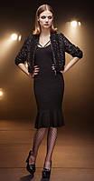 Платье Nova Line-5675 белорусский трикотаж, черный, 48