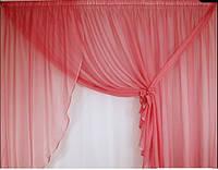 Готовый комплект занавесок для кухни Тоскана Розовый